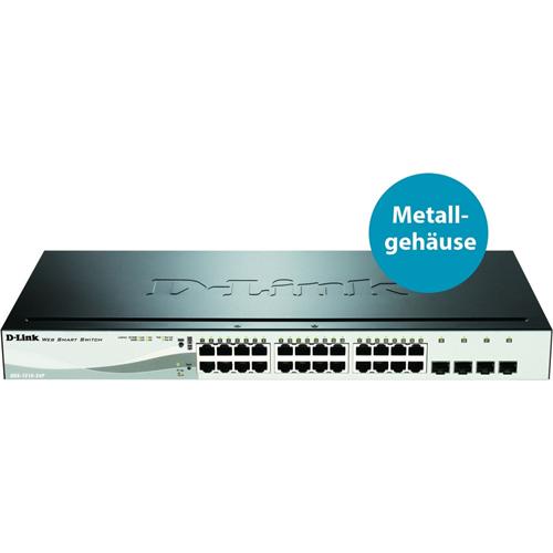 Commutateur Ethernet D-Link DGS-1210-24P 24 Ports Gérable - 2 Couche supportée - 1U Haut - Montable en rack