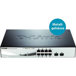 Commutateur Ethernet D-Link DGS-1210-08P 8 Ports - 2 Couche supportée - 1U Haut - Montable en rack