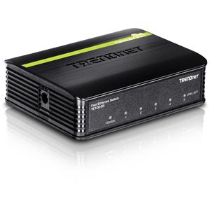Commutateur Ethernet TRENDnet TE100-S5 5 Ports - 5 x Fast Ethernet Réseau - 2 Couche supportée - 5 an(s) Garatie limitée
