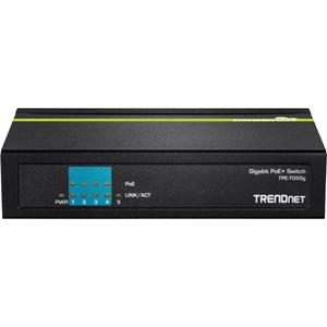 Commutateur Ethernet TRENDnet TPE-TG50g 5 Ports - 2 Couche supportée - Bureau - 3 an(s) Garatie limitée