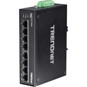 Commutateur Ethernet TRENDnet TI-PG80 8 Ports - 2 Couche supportée - Paire torsadée - Montage sur rail, Fixation au mur