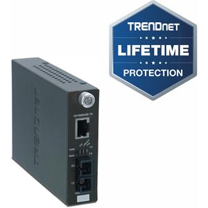 Convertisseur de Média/Transceiver TRENDnet TFC-110S60i - 2 Port(s) - 1 x Réseau (RJ-45) - 1 x SC - 10/100Base-TX, 100Base-FX - 60 km