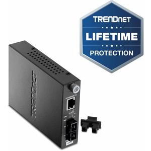 Convertisseur de Média/Transceiver TRENDnet TFC-110S15i - 2 Port(s) - 1 x Réseau (RJ-45) - 1 x SC - 10/100Base-TX, 100Base-FX - 15 km