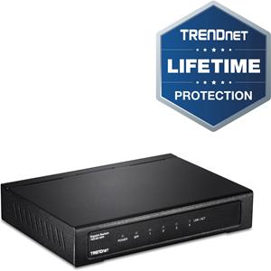 Commutateur Ethernet TRENDnet TEG-S51SFP 4 Ports - Nouveau - 2 Couche supportée - Modulaire - Fibre Optique, Paire torsadée - Fixation au mur