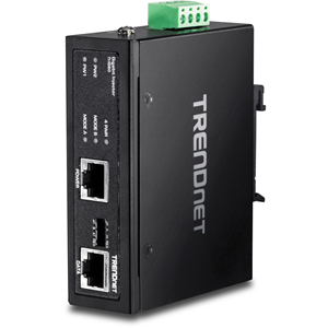 Injecteur POE TRENDnet TI-IG60 - 1 10/100/1000Base-T Input Port(s) - 1 10/100/1000Base-T Output Port(s) - 72 W - Montable sur rail DIN/mur