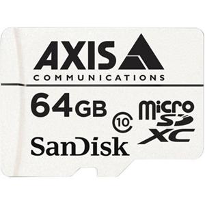 Carte microSDXC AXIS - 64 Go - Classe 10 - 20 Mo/s en Lecture - 20 Mo/sSpaceen Écriture
