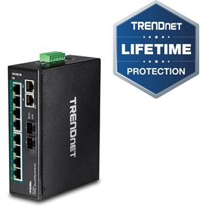 Commutateur Ethernet TRENDnet TI-PG102 10 Ports - 2 Couche supportée - Modulaire - Paire torsadée, Fibre Optique - Fixation au mur, Montage sur rail DIN