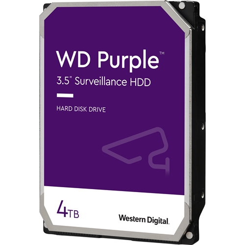 "Disque dur WD Purple WD40PURZ - 3.5"" Interne - 4 To - SATA (SATA/600) - 5400trs/mn - Buffer 64 Mo - 3 an(s) Garantie"