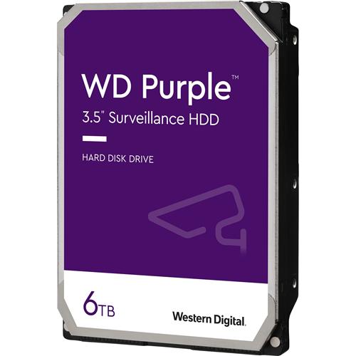 """Disque dur WD Purple WD60PURZ - 3.5"""" Interne - 6 To - SATA (SATA/600) - 5400trs/mn - Buffer 64 Mo - 3 an(s) Garantie"""