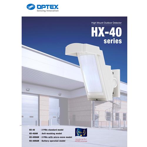 Capteur de mouvement Optex BoundaryGard HX-40RAM - Sans fil - 12,19 m Distance de détection de mouvement