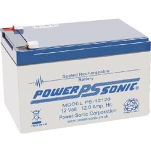 Batterie Power-Sonic PS-12120 - 12000 mAh - Taille de la batterie propriètaire - Scellées au plomb-acide (SLA) - 12 V DC - Batterie rechargeable