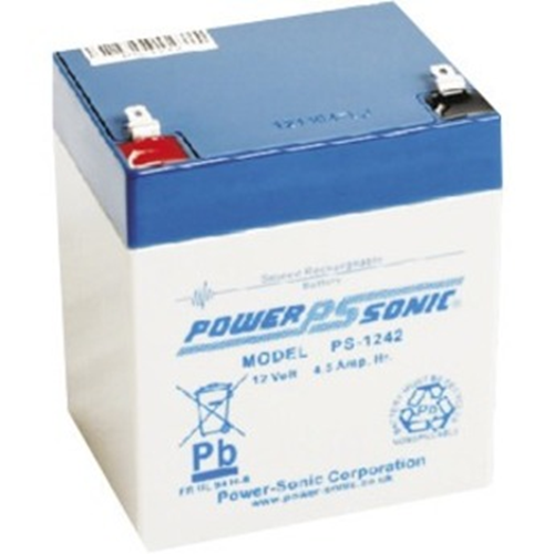 Batterie Power-Sonic PS-1242 - 4500 mAh - Scellées au plomb-acide (SLA) - 12 V DC - Batterie rechargeable