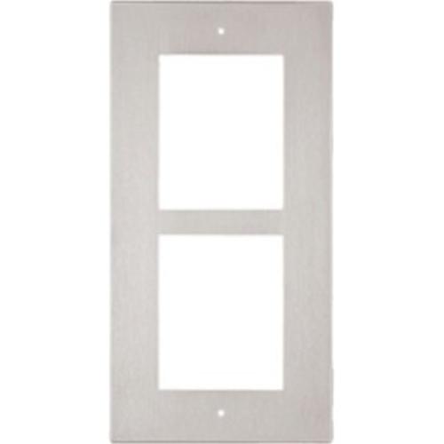 Plaque avant 2N - 2 xombre total de prises - Nickel - Montage Affleurant/Encastré, Fixation murale
