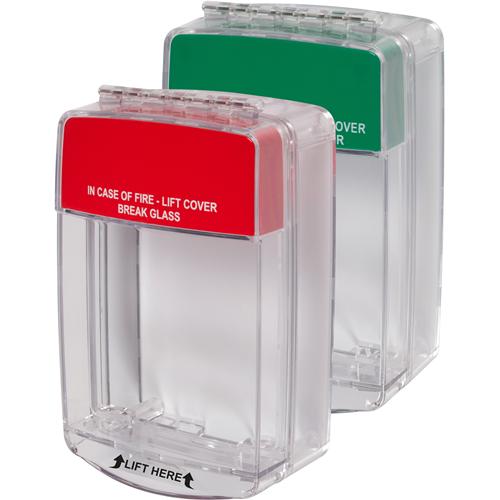 STI Euro Stopper STI-15C20ML Couverture de Sécurité pour Système d'alarme - Polycarbonate - Rouge, Vert