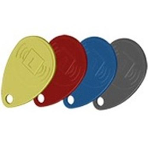 Porte-clé de proximité avec étiquette Honeywell - 4 - Noir, Rouge, Jaune, Bleu