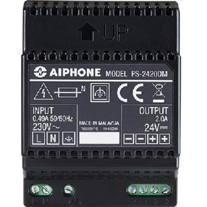 Système d'alimentation Aiphone - 230 V AC Input Voltage - 24 V DC Tension de Sortie - Rail DIN - Modulaire