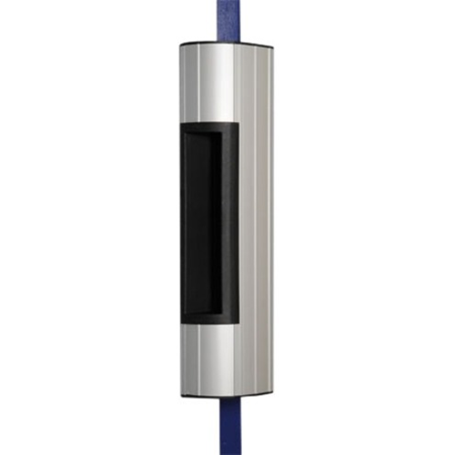 Diax Serrure magnétique - 300 kg Force de Maintien - Aluminium anodisé satiné - Monitored, Pre-percé