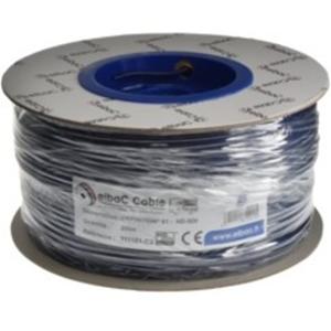 Cable vidéo elbaC - Coaxial - pour Système de Vidéo Surveillance - 200 m - Fil Dénudé - Fil Dénudé - Bleu