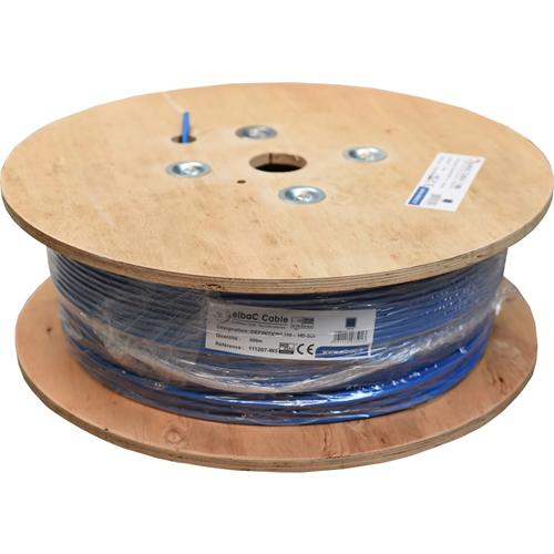 Cable vidéo elbaC - Coaxial - pour Appareil vidéo, Système de Vidéo Surveillance - 500 m - Fil Dénudé - Fil Dénudé - Bleu