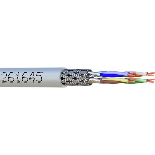 Câble réseau elbaC - Catégorie 6a - pour Périphérique réseau, Caméra de surveillance - 20 m - Blindage - 1 x RJ-45 Mâle Réseau - 1 x RJ-45 Mâle Réseau - 1,25 Go/s - Câble de Raccordement - Gris