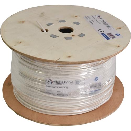 Câble de commande elbaC - pour Détecteur de fumée - 500 m - Fil Dénudé - Fil Dénudé - Blanc