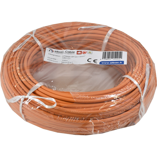 Câble de commande elbaC - pour Détecteur de fumée - 100 m - Fil Dénudé - Fil Dénudé