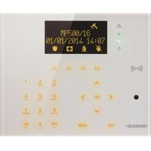 Elkron UKP500DP/N Clavier tactile de sécurité - Pour Tableau de Commande - En verre trempé