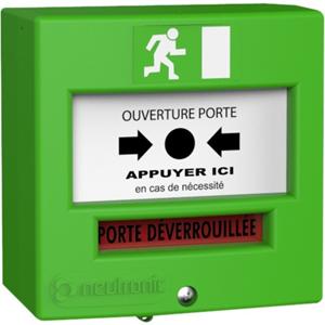 NEUTRONIC 4710V3 Poussoir manuel Pour Détecteur de fumée, Intérieur, Extérieur - Vert