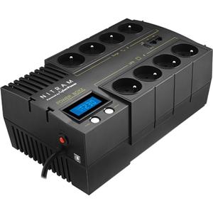 Onduleur ligne interactive NITRAM Power Boxx PB700LCD - 700 VA/420 W - 8 Heure(s) Battery Recharge Time - 1 Minute(s) Stand-by Time - 230 V AC Entrée - 230 V AC Sortie - 8 x Français