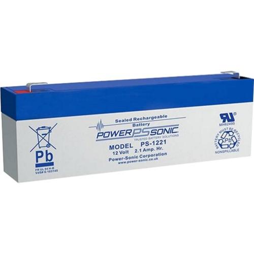 Batterie Power-Sonic PS-1221 - 2100 mAh - Scellées au plomb-acide (SLA) - 12 V DC - Batterie rechargeable