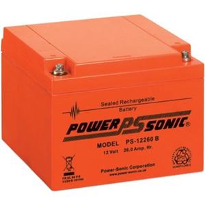 Batterie Power-Sonic PS-12260 B - 26000 mAh - Scellées au plomb-acide (SLA) - 12 V DC - Batterie rechargeable