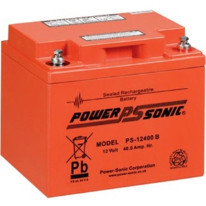 Batterie Power-Sonic PS-12400 B - 40000 mAh - Scellées au plomb-acide (SLA) - 12 V DC - Batterie rechargeable