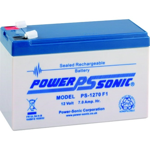Batterie Power-Sonic PS-1270 F1 - 7000 mAh - Scellées au plomb-acide (SLA) - 12 V DC - Batterie rechargeable