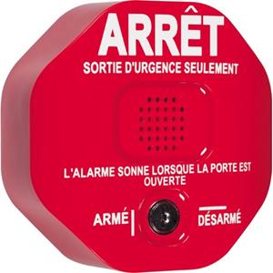 Alarme de Sécurité STI Exit Stopper STI-6400 - 105 dB - Audible - Montage sur porte - Rouge