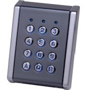 Dispositif d'accès clavier Visual Plus EX5M-72C - Gris, Chrome - Porte - Code clé - 99 Utilisateur(s) - 24 V DC - Standalone, Support