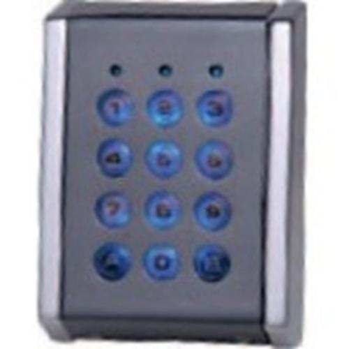 Dispositif d'accès clavier Visual Plus EX7-72C - Gris, Chrome - Porte - Code clé - 99 Utilisateur(s) - 24 V DC - Standalone, Support