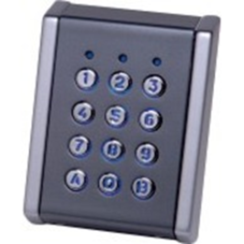 Dispositif d'accès clavier XPR LCS2M-72C - Gris, Chrome - Code clé - Wiegand - 12 V DC - Support