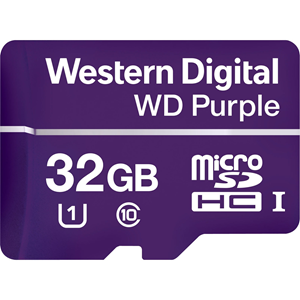 Carte Micro SDHC WD Purple WDD032G1P0A - 32 Go - Classe 10/UHS-I (U1) - 100 Mo/s en Lecture - 60 Mo/sSpaceen Écriture