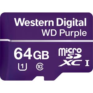 Carte microSDXC WD Purple WDD064G1P0A - 64 Go - Classe 10/UHS-I (U1) - 100 Mo/s en Lecture - 60 Mo/sSpaceen Écriture