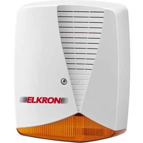 Sirène/Lumiére stroboscopique Elkron HPA700P - 14,4 V DC - 110 dB - Audible, Visuel - Orange
