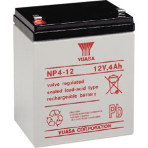 Batterie Yuasa NP4-12 - 4000 mAh - Scellées au plomb-acide (SLA) - 12 V DC - Batterie rechargeable