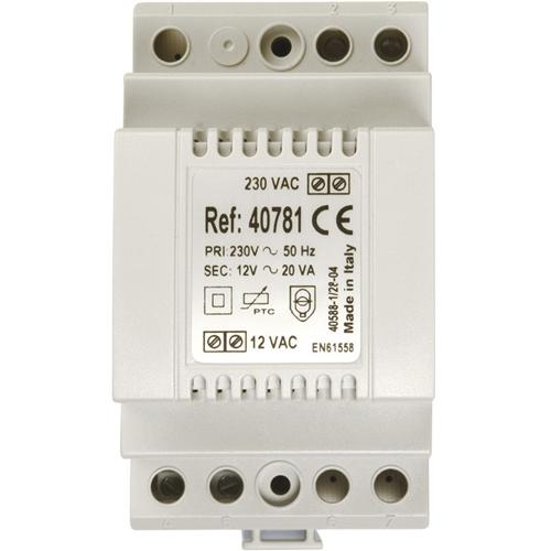 Système d'alimentation Aiphone 40781 - 20 W - 230 V AC Input Voltage - 12 V DC Tension de Sortie - Rail DIN