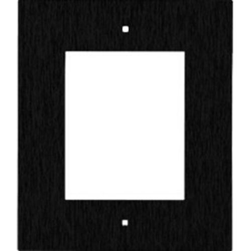 Plaque avant 2N - Acier brossé - Noir - Fixation murale, Montage Affleurant/Encastré