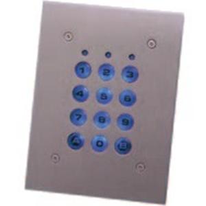 Dispositif d'accès clavier XPR EX6-102A - Porte - Code clé - 1000 Utilisateur(s) - 10 Porte(s) - 50 mm Plage de fonctionnement - Série - 24 V DC - Montage Affleurant/Encastré