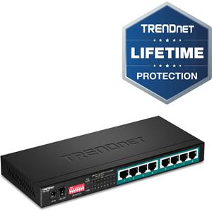 Commutateur Ethernet TRENDnet TPE-LG80 8 Ports - Nouveau - 2 Couche supportée - Paire torsadée - Fixation au mur