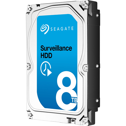 """Disque dur Seagate SkyHawk ST8000VX004 - 3.5"""" Interne - 8 To - SATA (SATA/600) - Système de Vidéo Surveillance, Enregistreur Réseau Vidéo Appareil compatible"""