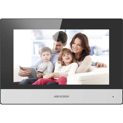 """Portier Vidéo Hikvision DS-KH6320-WTE1 17,8 cm (7"""") - Écran tactile LCD TFT - Plastique - Intérieur"""
