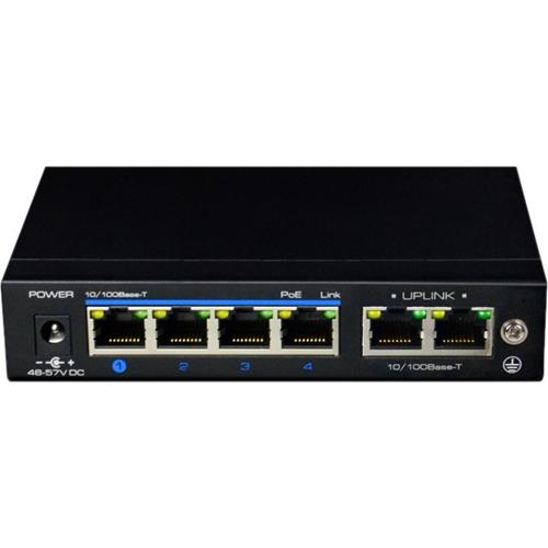 Commutateur Ethernet elbaC 6 Ports - 2 Couche supportée - Paire torsadée - PoE Ports - Montable en rack