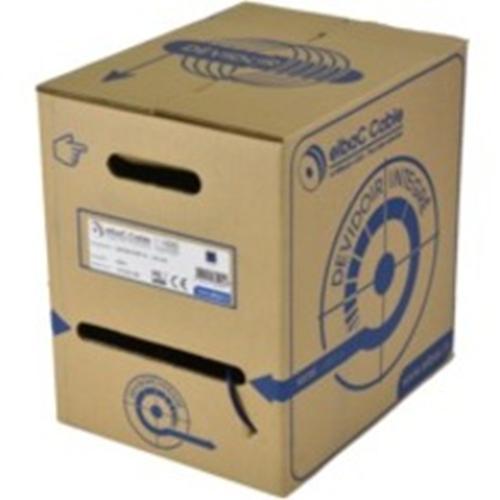 Câble d'Antenne elbaC - 400 m Coaxial - pour Caméra de surveillance, Système de Vidéo Surveillance, Système d'alimentation, Antenne - Fil Dénudé - Fil Dénudé - Natural, Bleu