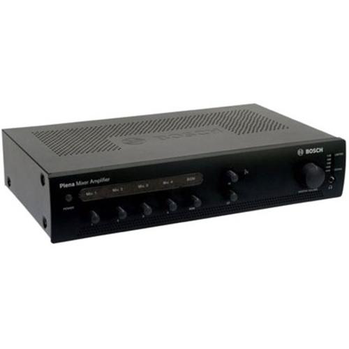 Amplificateur mélangeur, 60 W, 4 entrées microphones et 1 entrée de musique d'ambiance. - Fréquence 60 Hz/20 kHz - 200 W